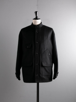 tilt The authentics | 20AW JKT-02 FINE WOOL BEAVER  HUNTING JACKET Black ファインウールビーバーハンティングジャケット