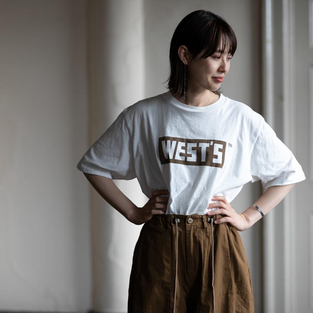 Westoveralls ボックスロゴTシャツ Brownの福岡通販取扱店