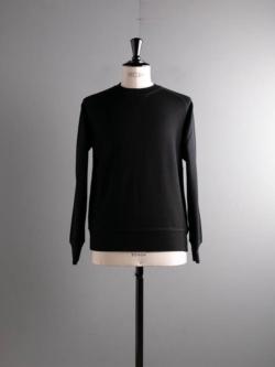 YINDIGO A M | WW102 WOOL BOXING SWEAT Black SUPER120'sウール吊り裏毛ボクシングスウェットシャツの商品画像