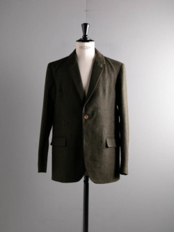 FRANK LEDER | LIGHT WEIGHT LODEN WOOL 2B JACKET 48:Olive ローデンウールテーラードジャケット