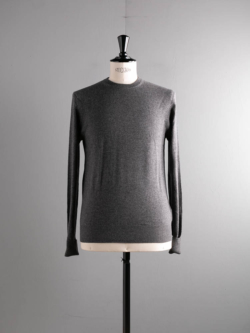 CASHMERE CREWNECK PULLOVER Charcoal