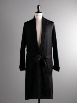 YINDIGO A M | WW006 WOOL ROBE Black SUPER120'sウールローブ