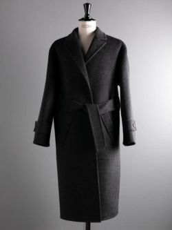 POSTELEGANT | WOOL REVER COAT Charcoal Grey ウールリバーコートの商品画像