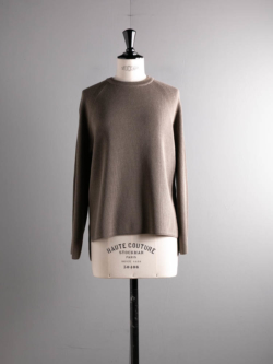 BN-20FL-013 HARD TWIST WOOL CREW NECK Mocha