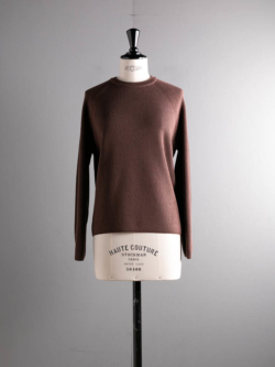 BN-20FL-013 HARD TWIST WOOL CREW NECK Pink brown