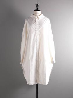 YARMO | OVERSIZED SHIRTS CAMBRIC COTTON White コットンオーバーサイズシャツ