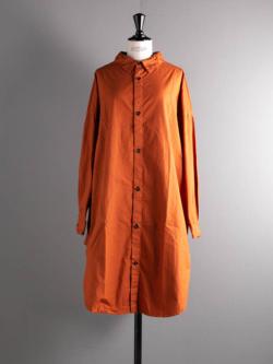 YARMO | OVERSIZED SHIRTS CAMBRIC COTTON Terracotta コットンオーバーサイズシャツ