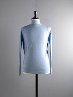 JOHN SMEDLEY | 【訳ありセール】BEAL Serene Blue ウールタートルネックニットの商品画像