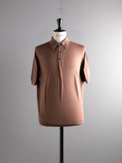 JOHN SMEDLEY | MERCER Mocha コットン半袖ポロシャツの商品画像