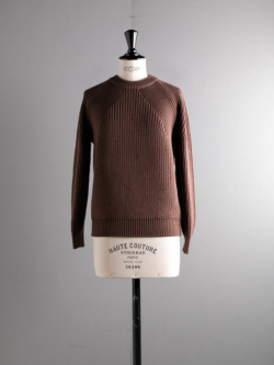 BN-20FL-026 SIGNATURE CREW NECK Brown