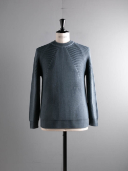 BN-20FM-030 SIGNATURE CREW NECK Gray Blue