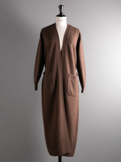 BN-20FL-036 FLEECE WOOL LONG CARDIGAN Brown