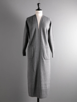 BN-20FL-036 FLEECE WOOL LONG CARDIGAN Gray