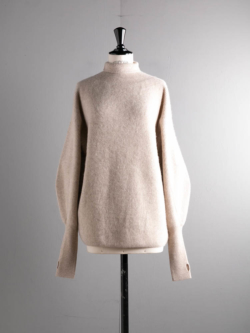 BN-20FL-040 CASHMERE FOX HIGH NECK TUNIC Beige
