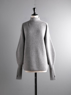 BN-20FL-040 CASHMERE FOX HIGH NECK TUNIC Gray