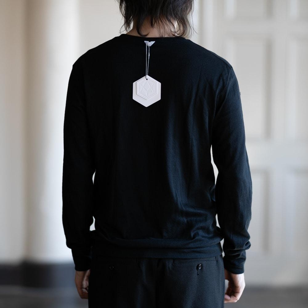 インディゴAM エアニット長袖Tシャツのブラック通販取扱店
