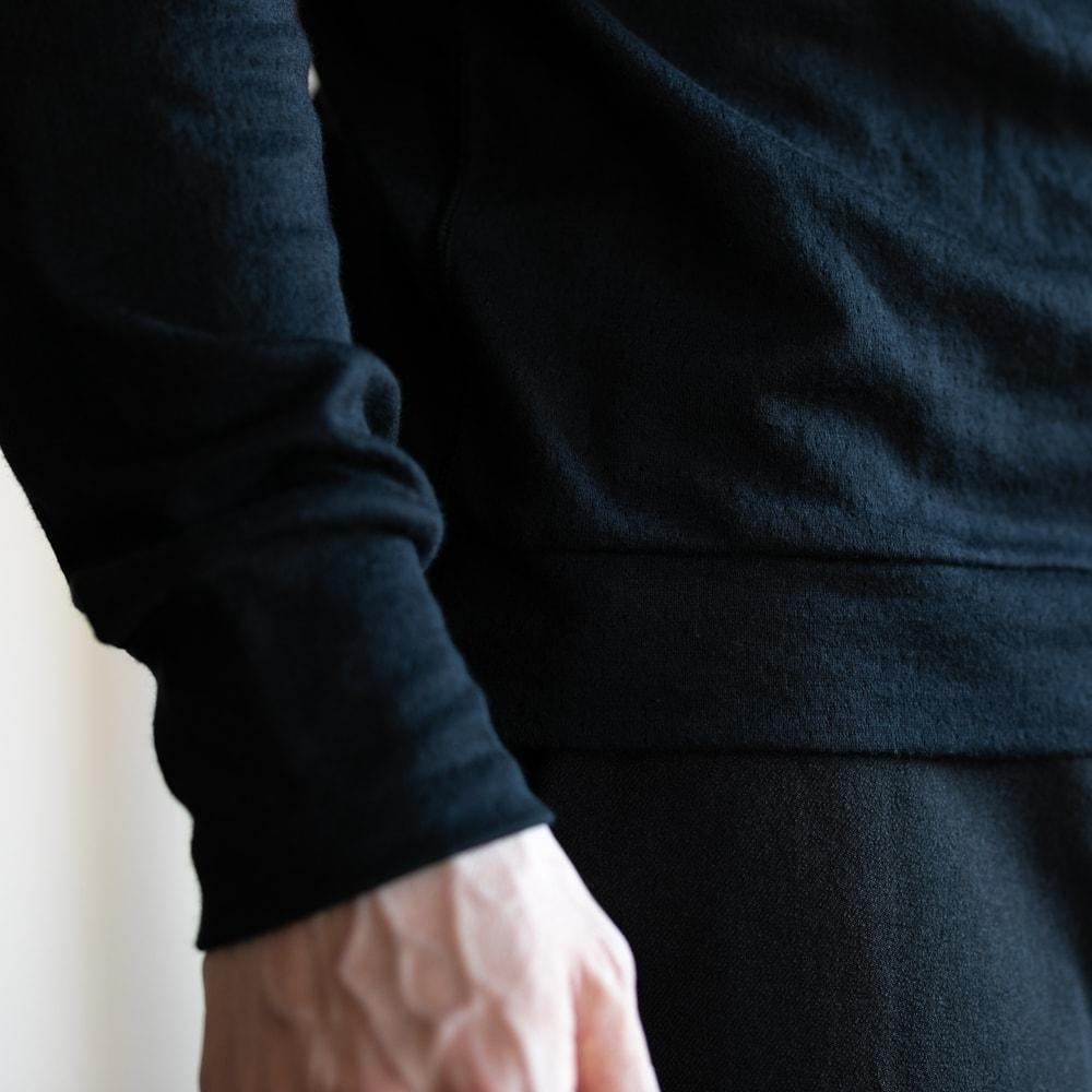 YINDIGO A M エアニットロングスリーブTシャツ ブラックの通販取扱店