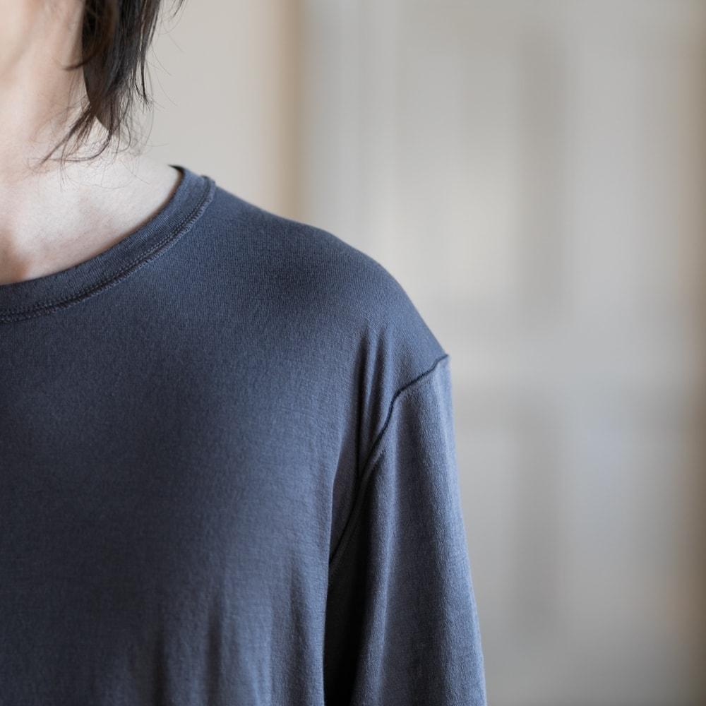 YINDIGO A M(インディゴエイエム) エアニット長袖Tシャツ グレー