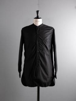 Sans Limite | W1801018 SH06 S Black ブロード2本針スタンドカラーシャツの商品画像