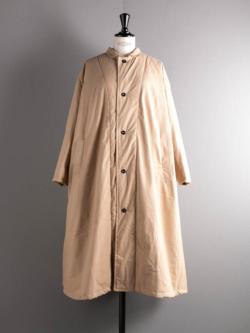 YARMO | QUILT LINED COAT COTTON CANVAS Beige キルトライニングコットンキャンバスコートの商品画像