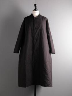 YARMO | QUILT LINED COAT COTTON CANVAS Black キルトライニングコットンキャンバスコートの商品画像