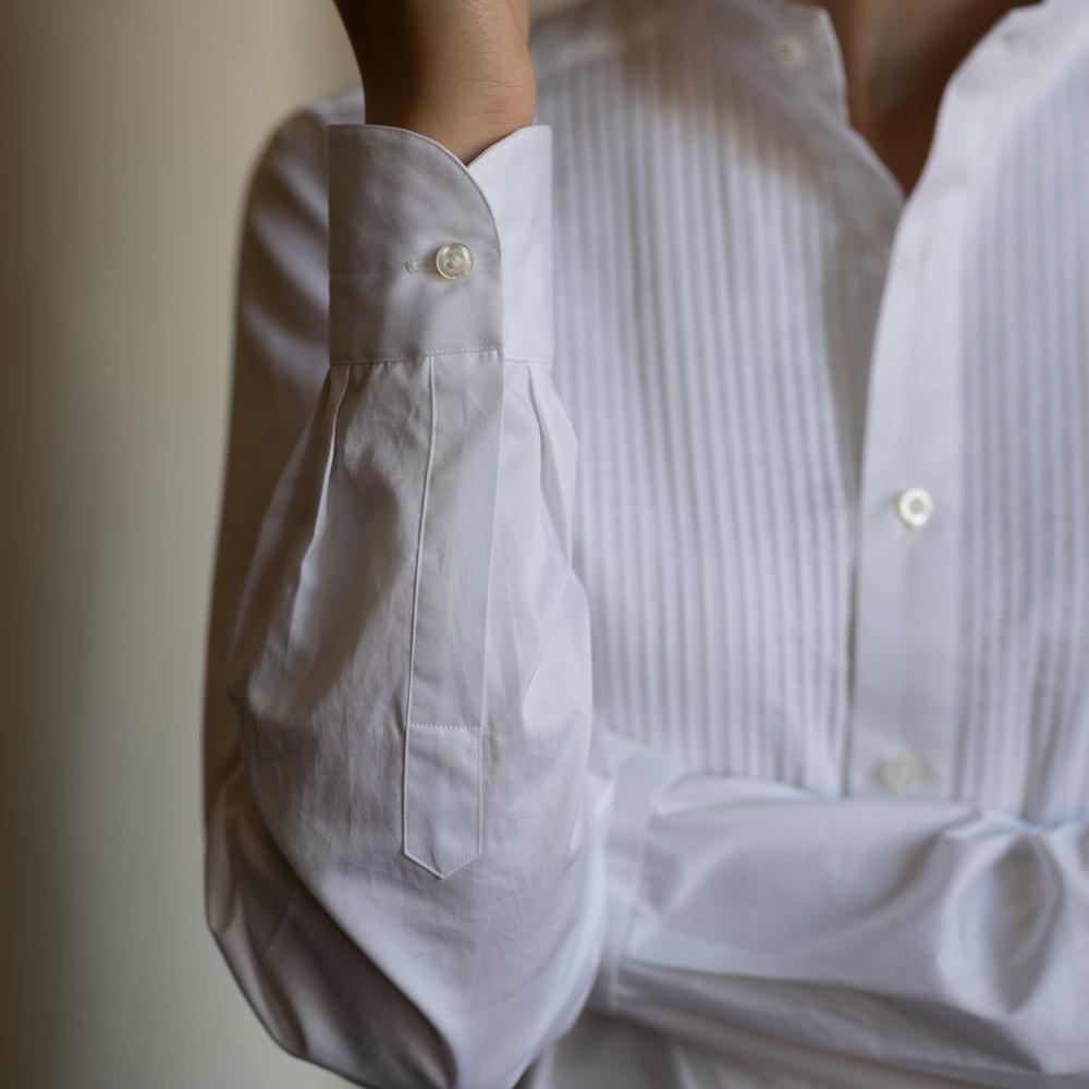 YINDIGO A M イカ胸ピンタックアーカイブシャツの通販取扱店