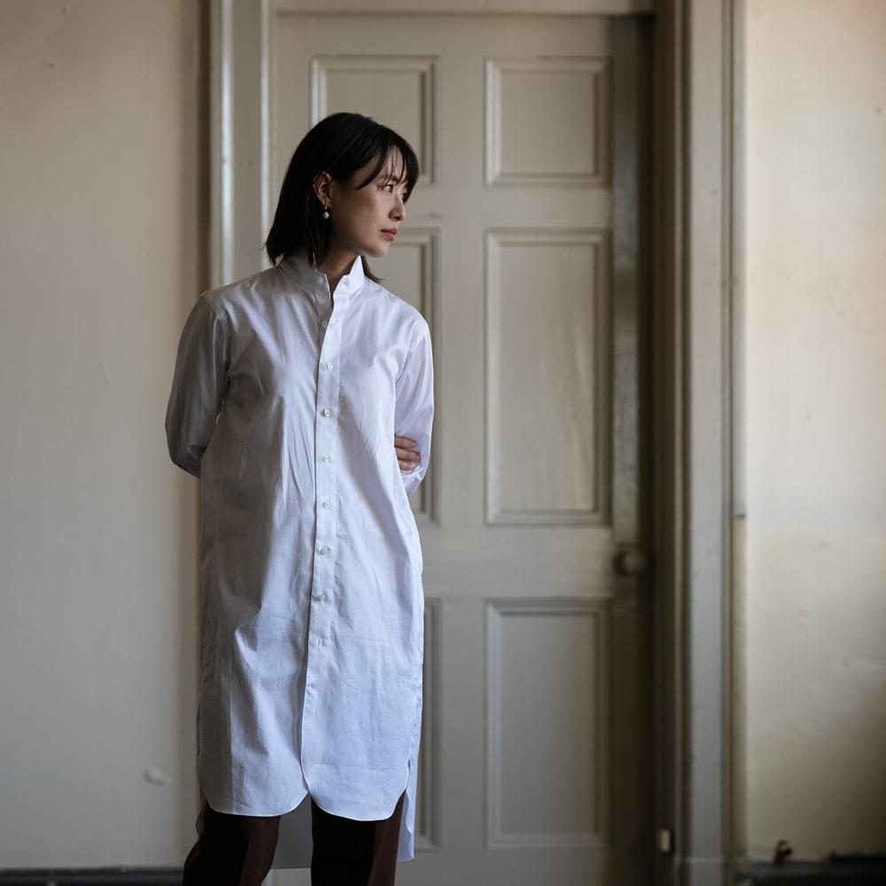 インディゴAM別注 蝶矢シャツ マスターシードコットンシャツ
