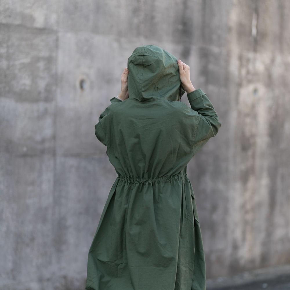 ガーメンツ カグールワンピースコート グリーンの福岡通販取扱店
