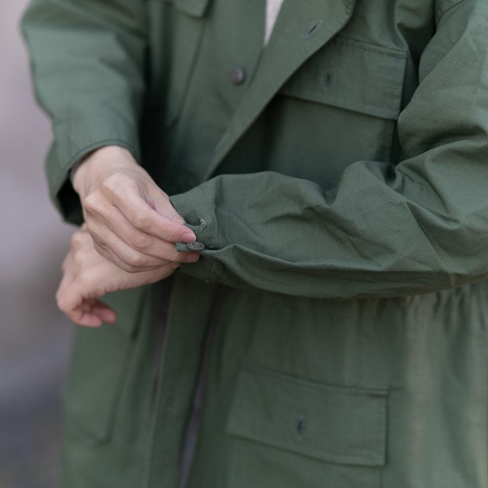 ガーメンツ フード付きワンピースコート greenの福岡通販取扱店