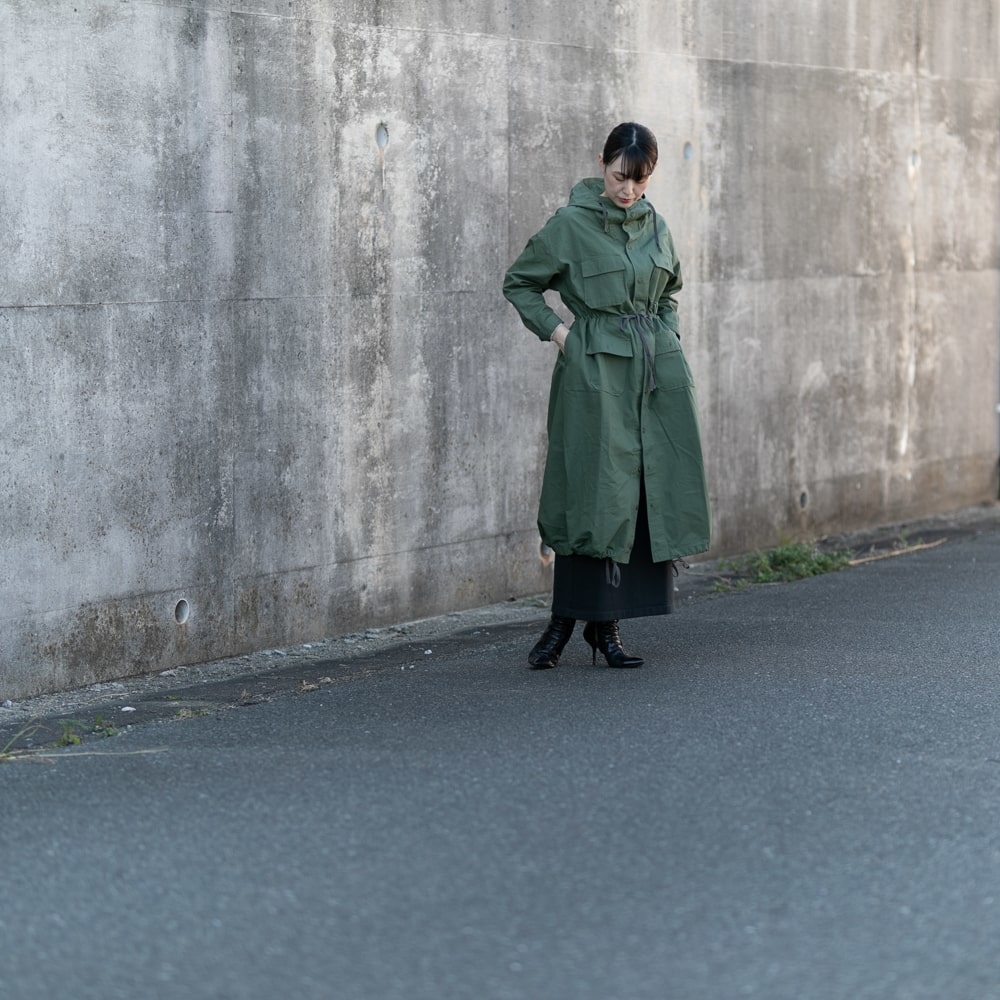 ENGINEERED GARMENTS CAGOULE DRESS – RIPSTOP Olive