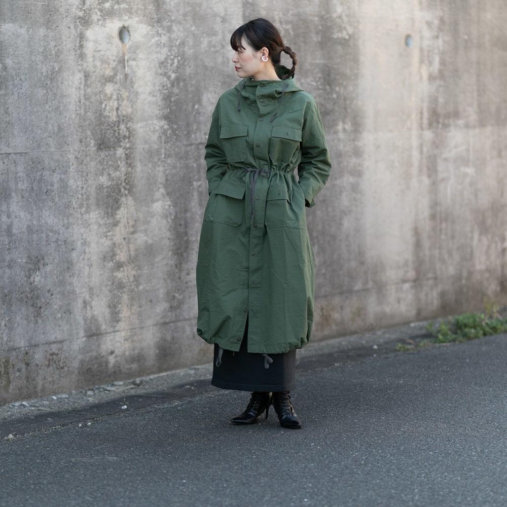 エンジニアードガーメンツ CAGOULE DRESS – RIPSTOP Olive