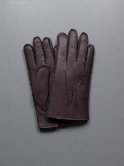 WINDSOR- FUR LINED DEERSKIN LEATHER GLOVES Bark