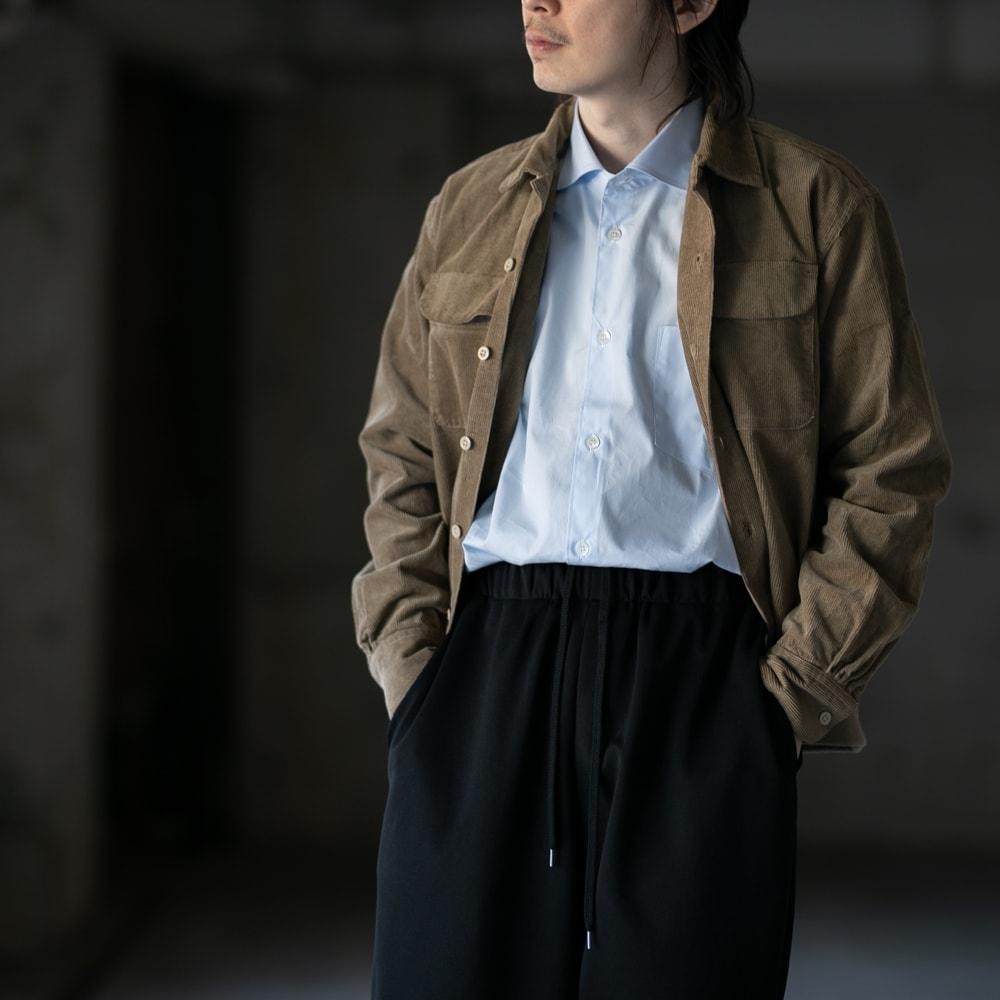 ガーメンツ 裾リブ付きコーデュロイ開襟シャツの福岡通販取扱店