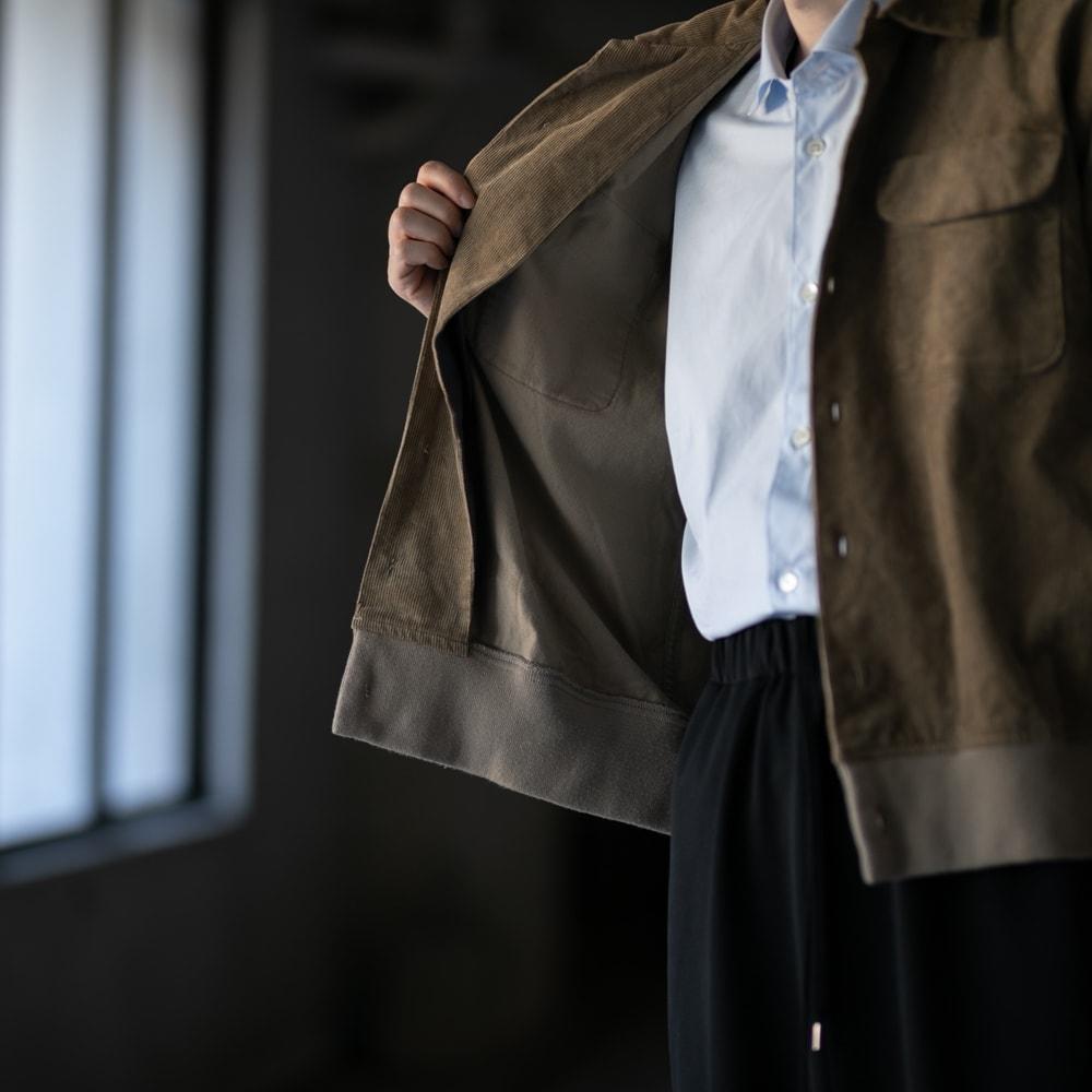 ガーメンツ 裾リブ付きコーデュロイ開衿シャツの福岡通販取扱店