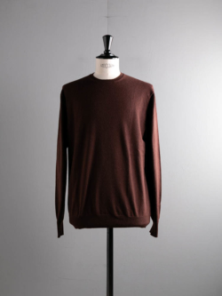 CASHMERE CREWNECK SWEATER Chocolate Brown