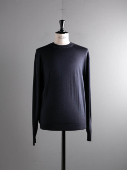 CASHMERE SILK CREWNECK SWEATER Blue Navy