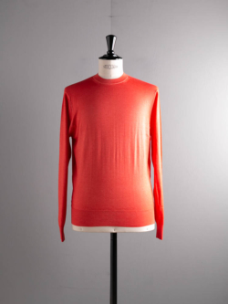 CASHMERE SILK CREWNECK SWEATER Coral Orange