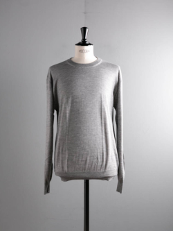 CASHMERE SILK CREWNECK SWEATER Grey