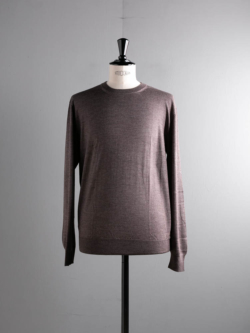 CASHMERE SILK CREWNECK SWEATER Brown Grey