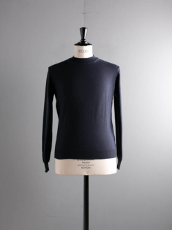 CASHMERE MOCKNECK SWEATER Navy
