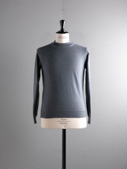 CASHMERE MOCKNECK SWEATER Blue Grey