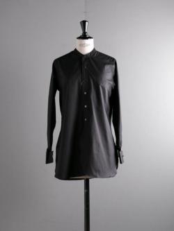 Sans Limite | W1301006 SH06 Black ブロード長丈スタンドカラーシャツの商品画像