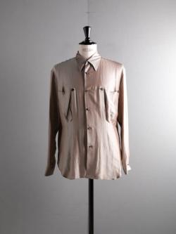 Westoveralls | STA-WEST'S ARROW SHIRT Beige レーヨンシルクアローシャツの商品画像