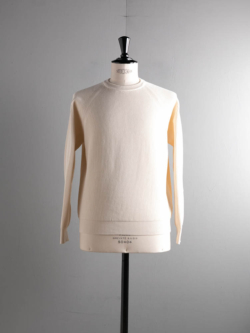 BN-21SM-015 HIGH COUNT RIB CREW NECK Ivory