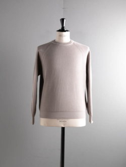 BN-21SM-015 HIGH COUNT RIB CREW NECK L.Gray
