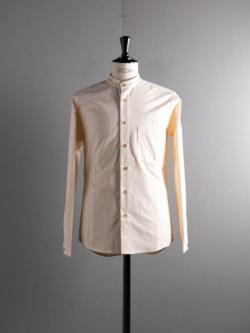 FRANK LEDER   60's VINTAGE BEDSHEET PLAIN STAND COLLAR SHIRT 80:Natural ベッドリネンプレーンスタンドカラーシャツの商品画像