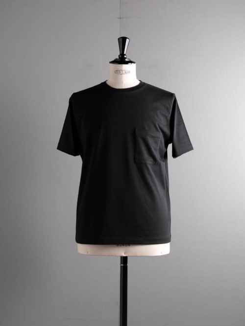 BN-21SM-042 HIGH COUNT ORGANIC COTTON T-SHIRT Black