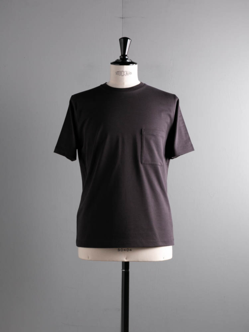 BN-21SM-042 HIGH COUNT ORGANIC COTTON T-SHIRT Chacoal Brown