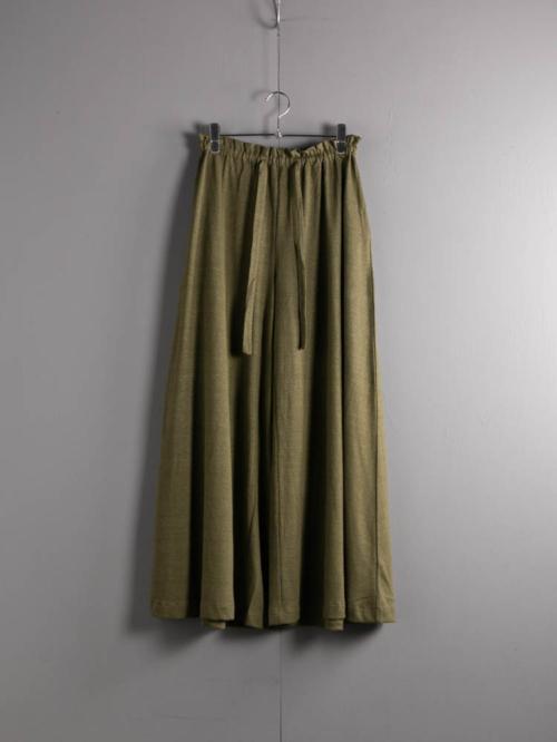 ABOUT | PALAIMAPNTS Khaki Green リネンコットンワイドレッグパンツの商品画像