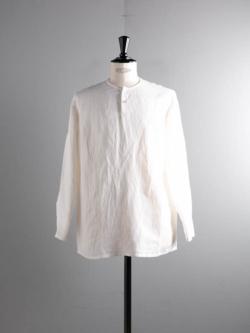 Aquellos Ojos Verdes BISHU | DRESSED RAYON LINEN SLEEPING SHIRT White レーヨンリネンスリーピングシャツ